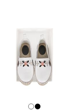 水晶花帆布便鞋<br> (2色)