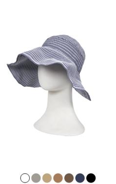 条纹帽子遮阳板