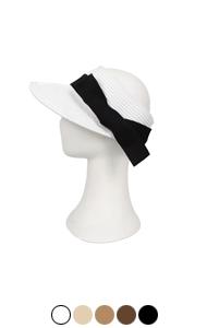 侧弓纸编织遮阳帽<br> (5种颜色)