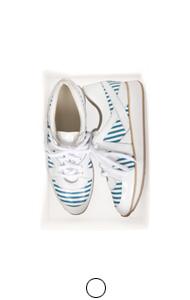 条纹镶板运动鞋