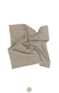 优雅的条纹丝巾