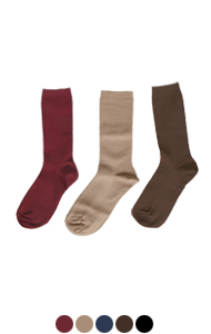 日常罗纹袜子<br> (5种颜色)