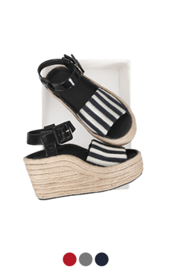 [GOOD PRICE] <br>条纹带帆布便鞋