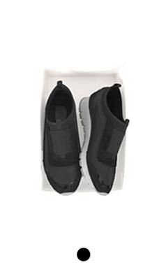 混合面料运动鞋黑