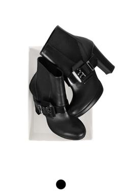 方扣短靴平台