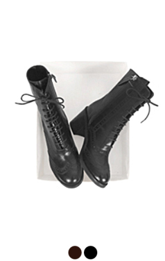 布洛克系带靴