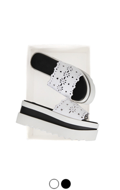 [GOOD PRICE] <br>孔绣厚底凉鞋