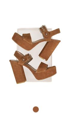 "最喜欢的麂皮厚底凉鞋<br> <font color=#ff9999 size=""1.9"" face=verdana>BEST BUY</font>"
