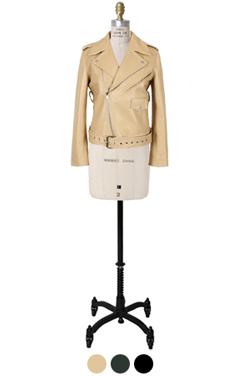 棉服lambleather骑手夹克