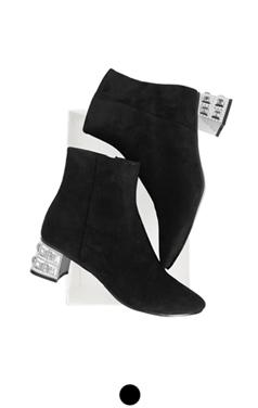 luminarie麂皮踝靴
