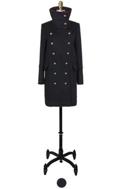 拿破仑高领外套