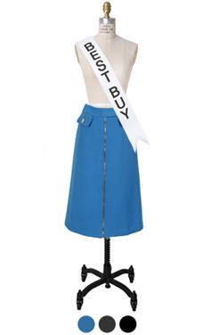 wellmade拉链裙