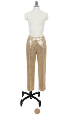 金箔涂长裤