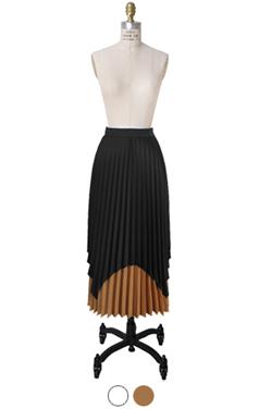 双层百褶裙