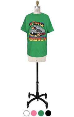 生动王krunch印刷T恤