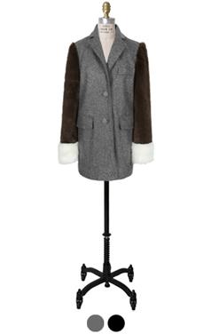 独特的fuax皮草外套套