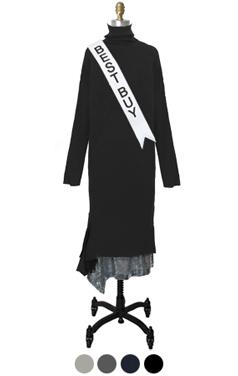 亮片层叠裙摆礼服的高领