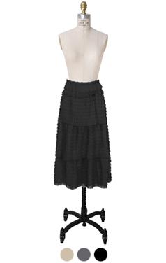 小车褶层叠裙