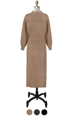 维多利亚模拟领针织服装