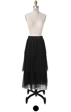 蓬蓬裙分层长裙