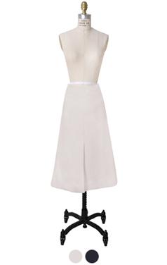 前切口的线裙子