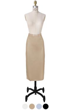 人造皮革铅笔裙
