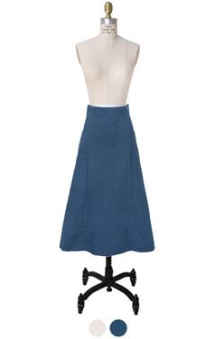 O型圈口袋MIDI裙