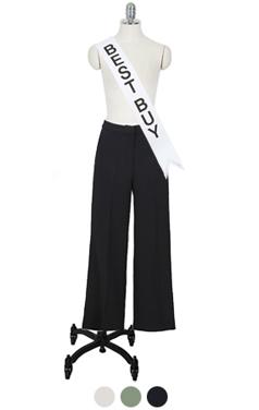 优雅的爆发宽裤