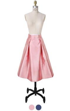 缎面细褶fullskirt