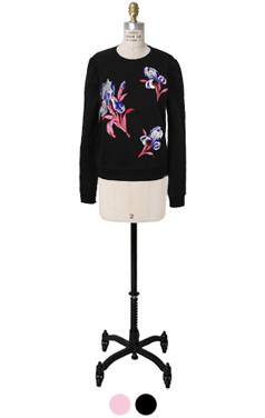 花朵刺绣运动衫
