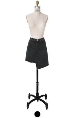 不平衡,下摆迷你裙