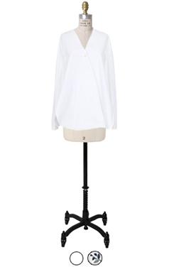 V领包缝衬衫