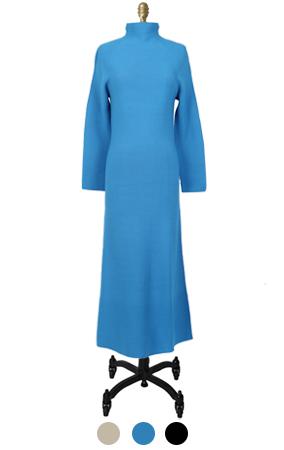 蓝精灵针织长裙