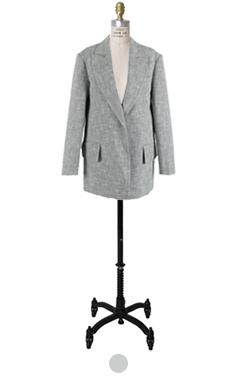 超大的斜纹软呢外套