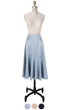 窗帘下摆缎子裙