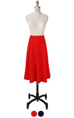 奥黛丽喇叭裙的midi