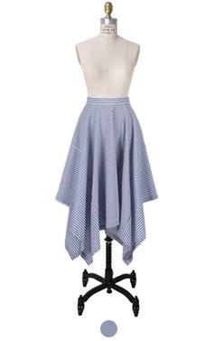 不对称条纹裙