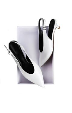 mustbuy小猫鞋跟露跟