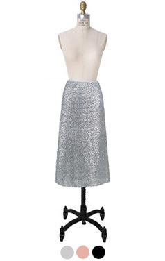容易安装sequinn裙