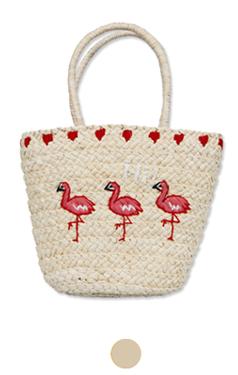 火烈鸟酒椰刺绣包包
