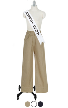 "经典的纯棉直筒裤<br> <font color=#ff9999 size=""1.9"" face=verdana>BEST BUY</font>"