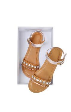 缪西娅珠光宝气的平底凉鞋
