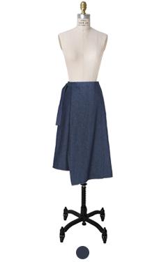 凯琳靛蓝裹裙