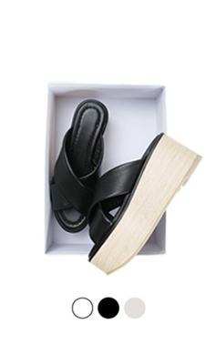 木制平台拖鞋