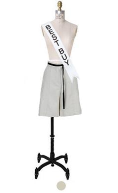 细褶束带裙裤