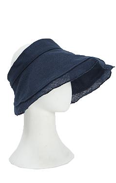 (安可)优雅的亚麻遮阳的帽子