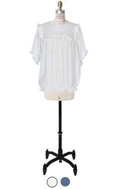 简氏褶边衬衫背带裤