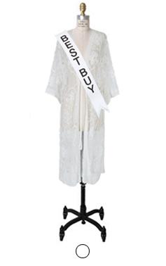 croche花边的长袍