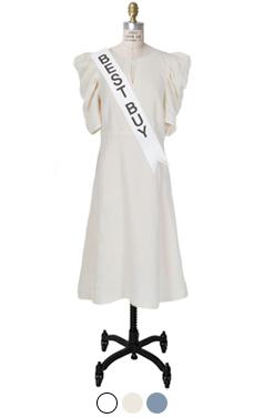 奥黛丽亚麻混纺连衣裙