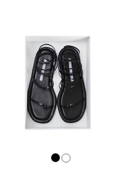 """系带平底凉鞋<br> <font color=#ff9999 size=""""1.9"""" face=verdana>BEST BUY</font>"""